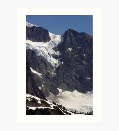 glacial flow on mt shuksan, washington, usa Art Print