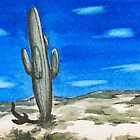 Cactus in the Desert by miriielizabeth