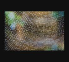Golden Silk Orb Weaver's Web Pattern 2 One Piece - Long Sleeve