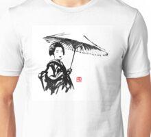 geisha under umbrella Unisex T-Shirt