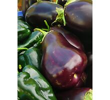 Eggplants and Peppers Photographic Print
