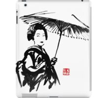 geisha under umbrella iPad Case/Skin