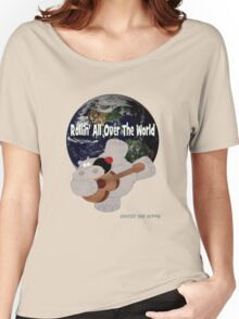 Hippo Rollin All Over The World Women's Relaxed Fit T-Shirt