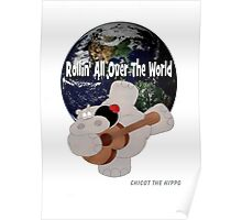 Hippo Rollin All Over The World Poster