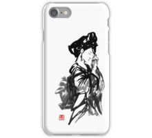 thinking geisha iPhone Case/Skin