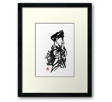 thinking geisha Framed Print