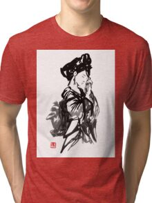 thinking geisha Tri-blend T-Shirt