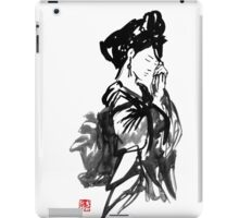 thinking geisha iPad Case/Skin