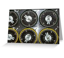 Bletchley Park Dials Greeting Card