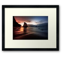 Cathedral Cove, Coromandel, New Zealand Framed Print