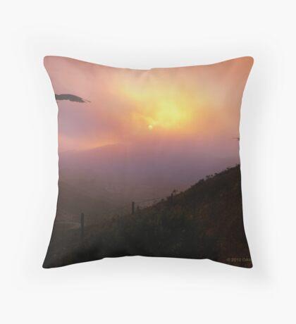 Marin Headlands Sunset Throw Pillow