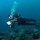 Julie on her 100th dive! by Andrew Trevor-Jones