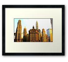 Chicago Glow Framed Print