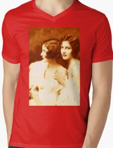 Two Beautiful Ladies Vintage photo Mens V-Neck T-Shirt