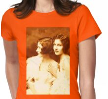 Two Beautiful Ladies Vintage photo Womens Fitted T-Shirt