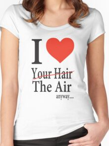 Dr. Horrible Freeze Ray love your hair Women's Fitted Scoop T-Shirt