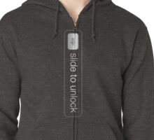 Slide To Unlock Zipped Hoodie
