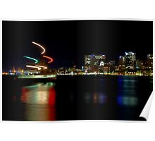 Halifax Harbour and Ferry at Night Poster