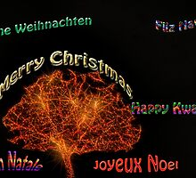 Merry Christmas in six different languages by happyphotos