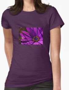 Purple African Daisy Close Up Womens Fitted T-Shirt