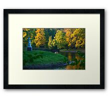 The Sun Is Going Down Framed Print