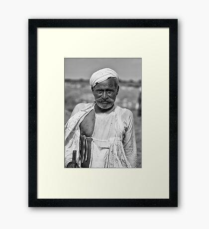 Madha, The Buffallo Herder Framed Print