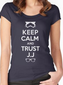 TRUST J.J (White) Women's Fitted Scoop T-Shirt