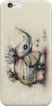 upside down elephants iPhone case by © Karin Taylor