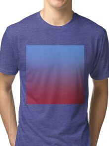 RED AND BLUE - Plain Color iPhone Case and Other Prints Tri-blend T-Shirt