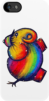 rainbow elephant iPhone case by © Karin  Taylor