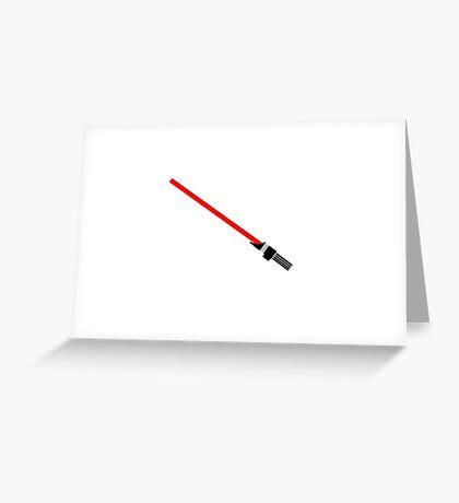 Lightsaber Fan art  Greeting Card