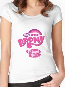 My Little Brony  Women's Fitted Scoop T-Shirt