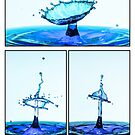 Water drop Series - Blue by Gavin Poh