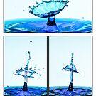 Water drop Series - Blue by Gavin Poh