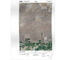 USGS Topo Map Washington State WA Monument Hill 20110425 TM Poster