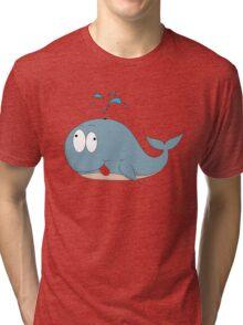 Cartoon whale Tri-blend T-Shirt
