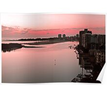 Dawn At Maroochy River. Maroochydore, Qld, Australia. Poster
