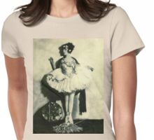 Vintage Ballet Dancer photo Womens Fitted T-Shirt