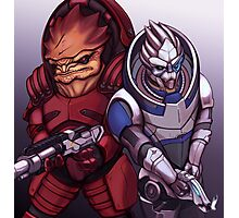 Wrex and Garrus Photographic Print