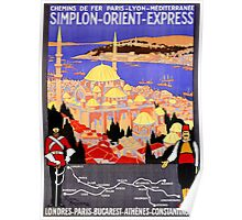 Vintage Simplon Orient Express London Constantinople Poster
