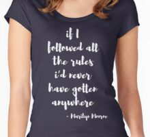 Marilyn Monroe Inspirational Quote Women's Fitted Scoop T-Shirt