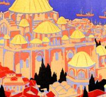 Vintage Simplon Orient Express London Constantinople Sticker