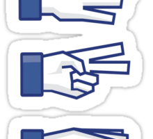 Rock, Paper, Scissors, Lizard, Spock Sticker