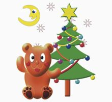 Teddy Bear and his Christmas Tree-shirt Kids Clothes