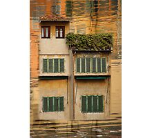 Little Houses over The Ponte Vecchio, Florence, Italy Photographic Print