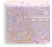 THE MEGATROPOLIS (warm hues) Metal Print