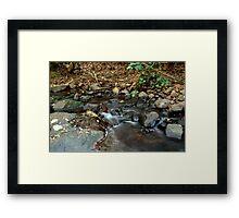 Slow Shutter on the Stream Framed Print
