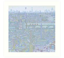 THE MEGATROPOLIS (cool hues) Art Print