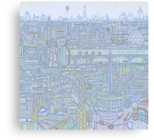 THE MEGATROPOLIS (cool hues) Canvas Print