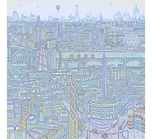THE MEGATROPOLIS (cool hues) Photographic Print